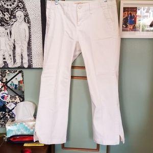 Jeans- White capri